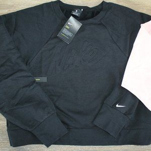 NIKE PLUS CROP LOGO SWEATSHIRT BLACK 3X NEW!